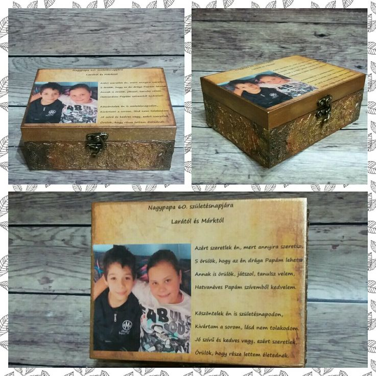 Doboz  Box Decoupage Handmade