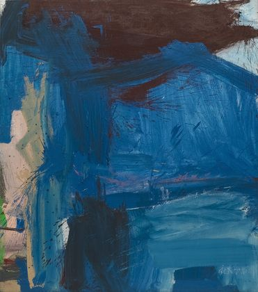 """Willem de Kooning / A Tree in Naples / 1960 / from the artist: """"Just coming around roads, some place, and having the sensation of a piece of it, a piece of nature, like a fence, something on the road. … And I really get very elated by again looking, by again seeing that the sky is blue, that the grass is green."""""""