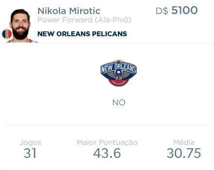 Cara nova em New Orleans... #mirotic #nikola #nikolamirotic #threkola #bulls #chicagobulls #newoleanspelicans #pelicans #nola #chicago #NO #nba #basketball #basquete #drafteam #nbatrade #nbafantasy #fantasy #fantasybasketball