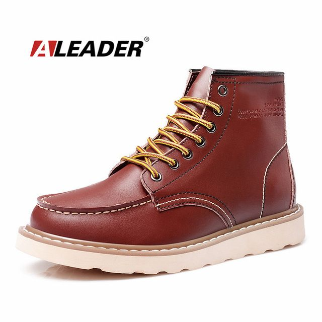 We love it and we know you also love it as well ALEADER Waterproof Men's Ankle Boots 2017 Fashion Warm Martin Boots Men Snow Fur Boots Men Casual Shoes Western Motorcycle Boots just only $43.00 with free shipping worldwide  #menshoes Plese click on picture to see our special price for you