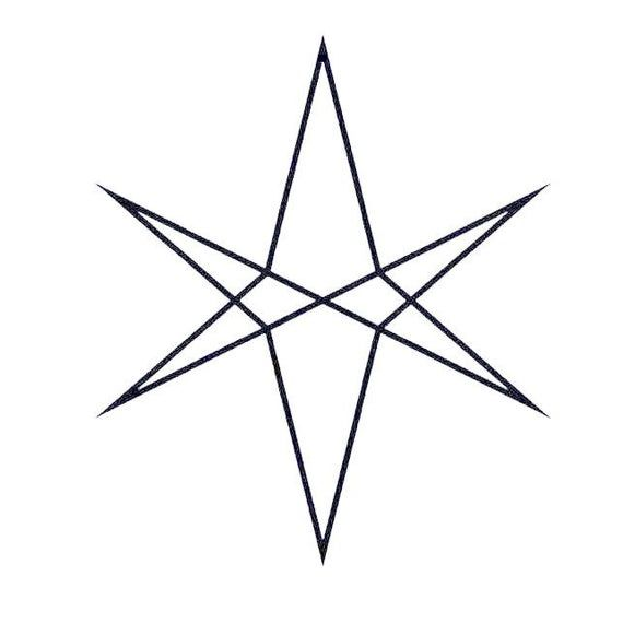 Bring Me The Horizon Star Symbol Cross Stitch Chart Digital Download Bring Me The Horizon Lightening Bolt Tattoo Invert Colors