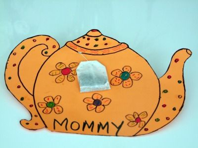 This Adorable Tea Bag Mother S Day Card Craft Activity Is A Ton Of Fun For Preschool And Kindergarten Children Just Perfect Lesson