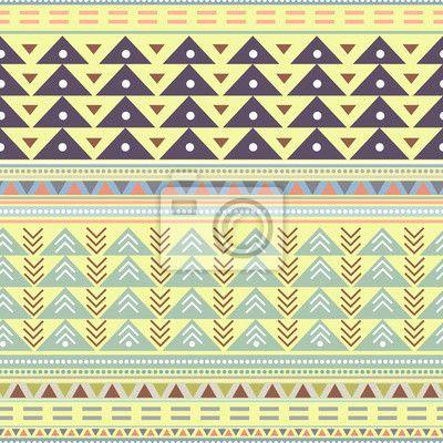 Tribal boho seamless pattern. ethnic geometric print. colorful na obrazech myloview. Nejlepší kvality fototapety, myloview sbírky, nálepky, obrazy, plakáty. Chcete si vyzdobit Váš domov? Pouze s myloview!