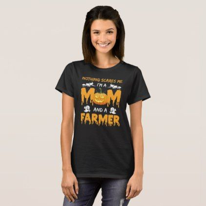 #Mom And FARMER - Halloween Costume Orange Shirts - #halloween #party #stuff #allhalloween All Hallows' Eve All Saints' Eve #Kids & #Adaults