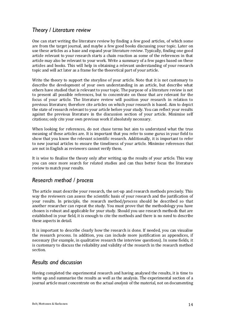 journal article writing