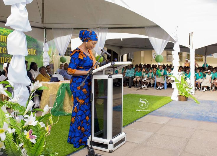 Samira Bawumia at her alma mata Alsyd Academy