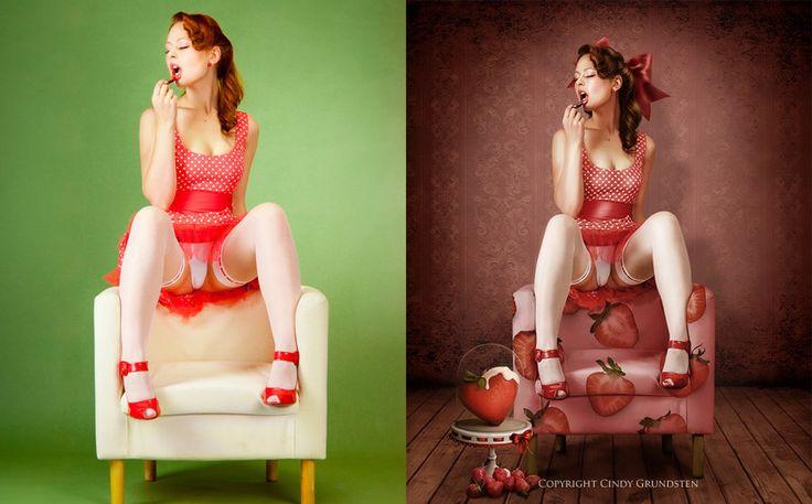 Strawberry_Pinup_by_Dezzan.jpg (900×560)