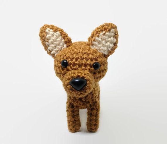 Pinscher miniatura peluche animales Amigurumi perro por Inugurumi