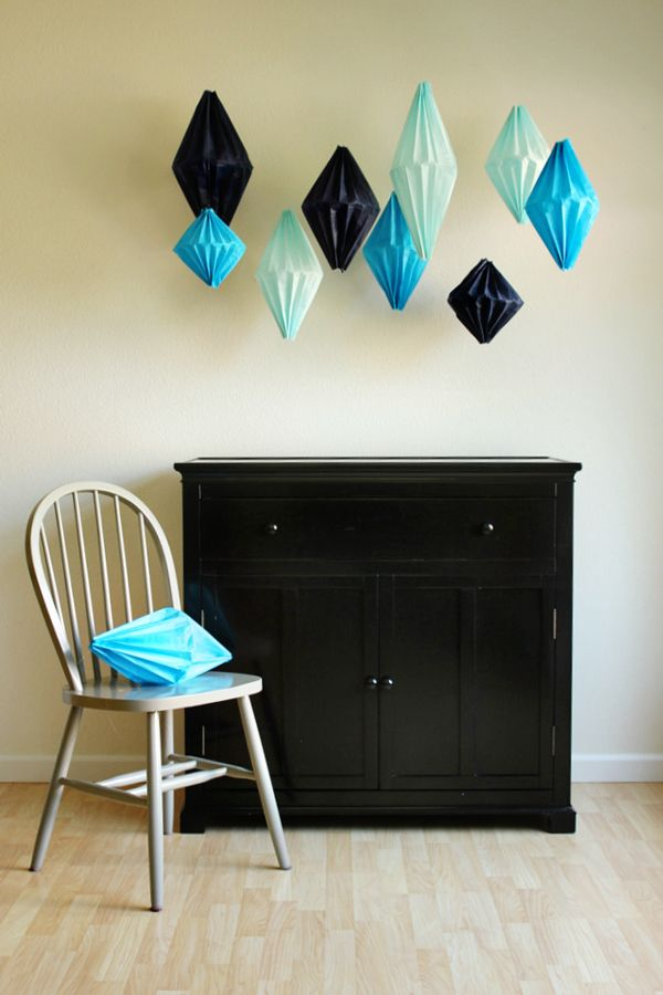 Genius DIY Geometric Lanterns out of tissue paper