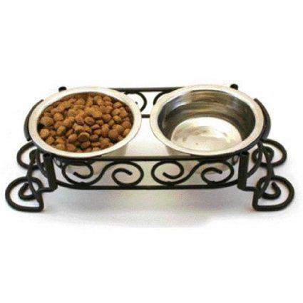 Amazon.com : Ethical Mediterranean Double Diner, 1-Quart : Pet Bowls : Pet Supplies