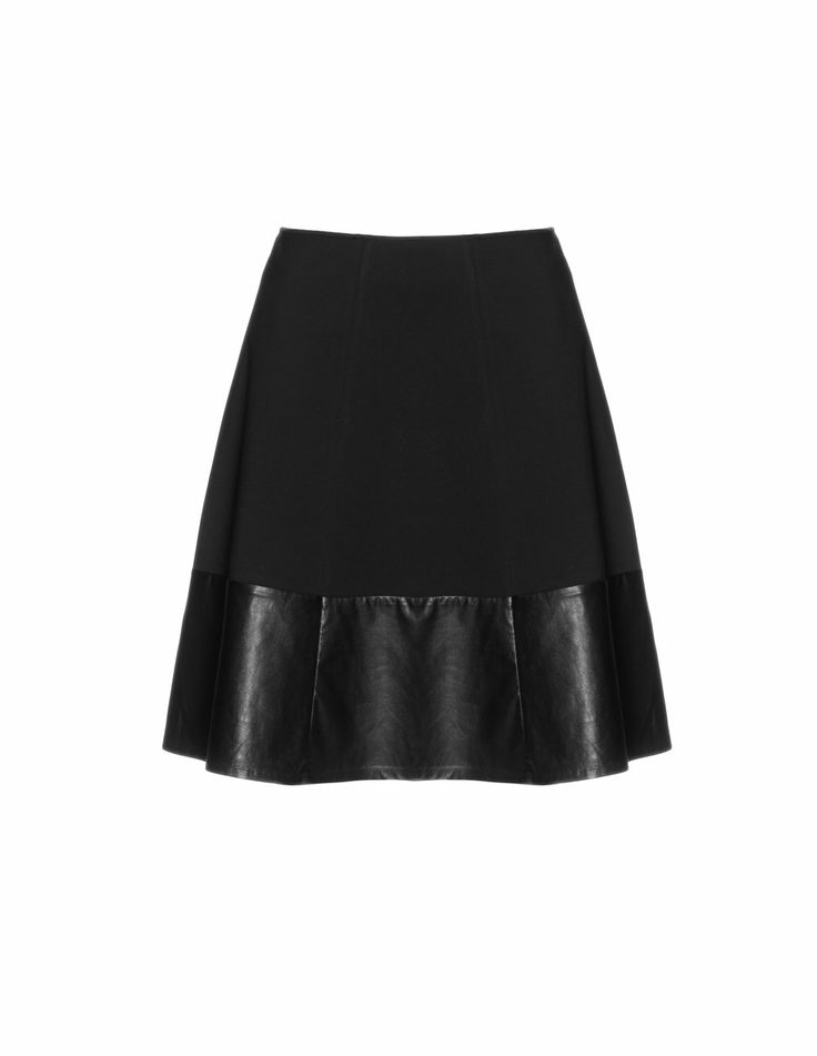 Leather a line skirt uk – The most popular models skirts