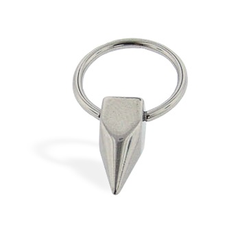 Square spike captive ring