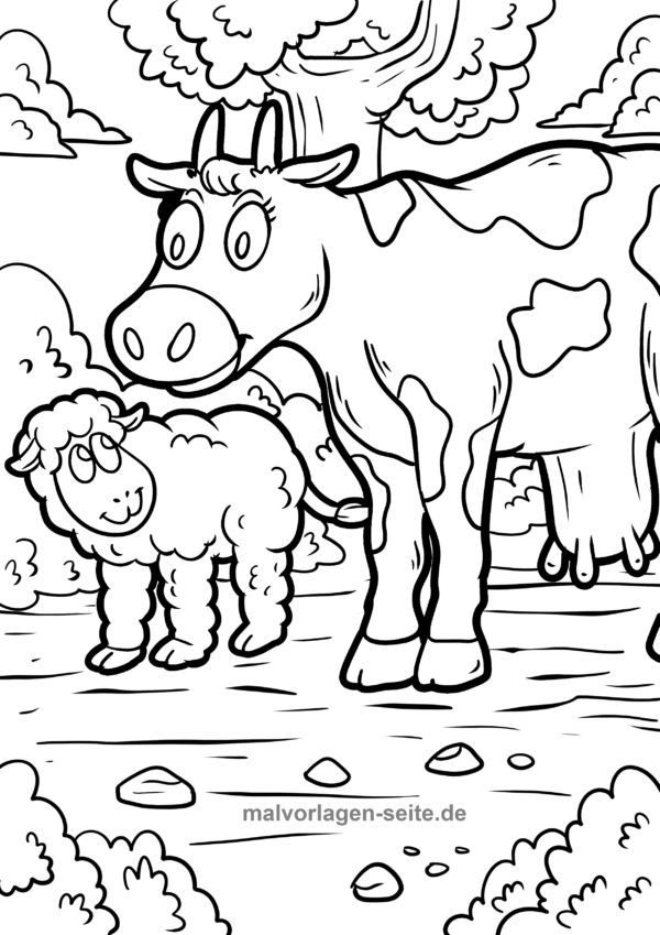 Malvorlage Bauernhof Ausmalbilder Malvorlagen Bauernhof Tiere