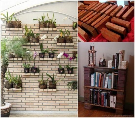 Modele rafturi si etajere pentru interior din caramida