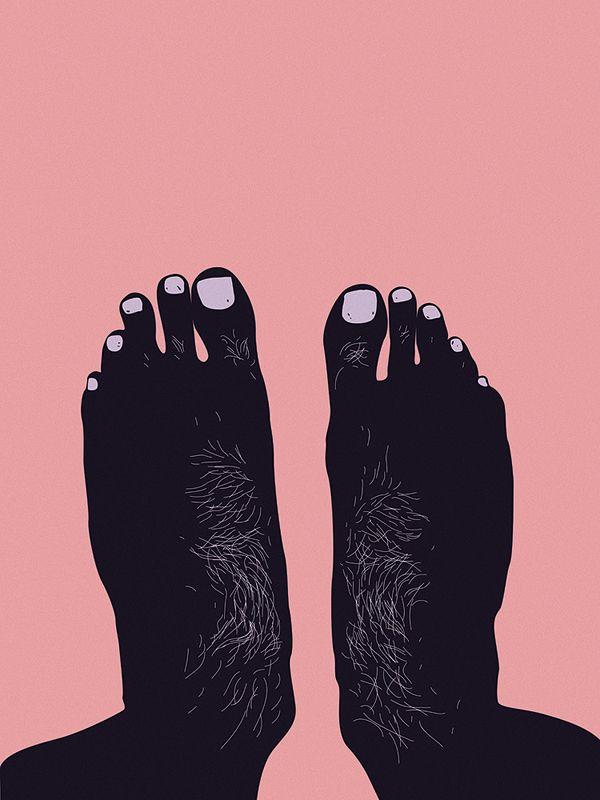 manly feet