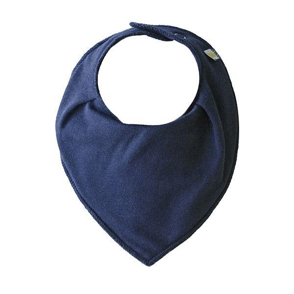 Bandana Dribble bib, Navy Blue [Littlemico]