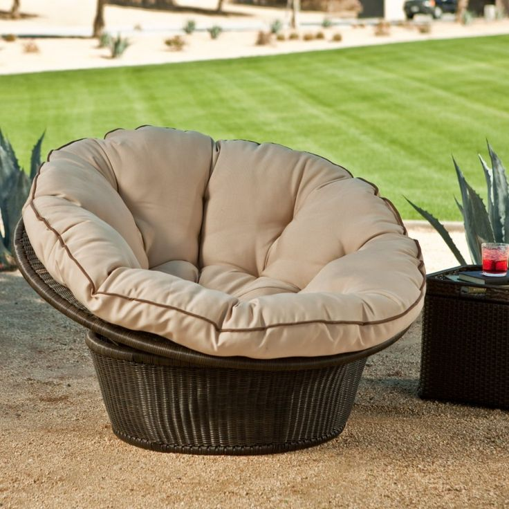 Vallejo All Weather Wicker Papasan Chair With Cushion At Hayneedle
