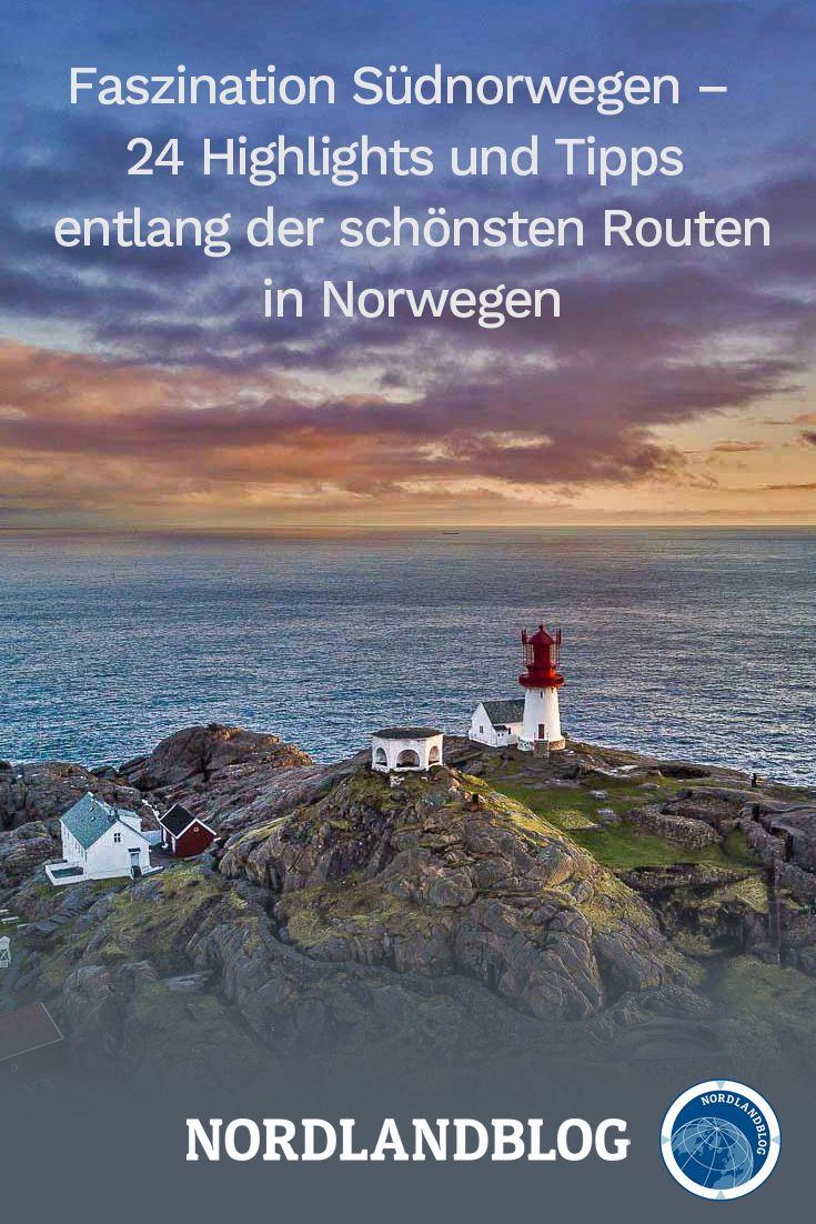 24 Highlights, Hotspots und Insider-Tipps sowie die schönsten Routen an der Südküste von Norwegen.