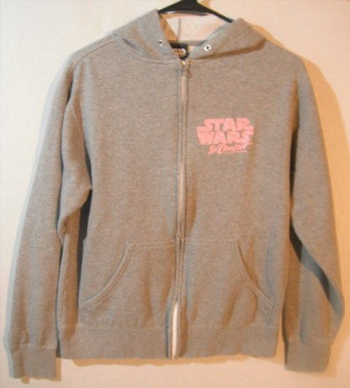 23.75$  Watch here - http://viuoi.justgood.pw/vig/item.php?t=i1xxqa40420 - Star Wars In Concert Genuine Grey Pink Zip Up Hoodie M Medium Carrie Fisher Leia 23.75$