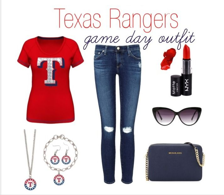 Texas Rangers Women's Game Day Outfit MLBFanatics #CleverGirls