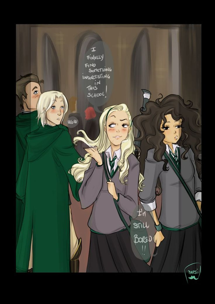 Slytherin in Love by AlexielApril on deviantART. Lucius and Narcissa at Hogwarts