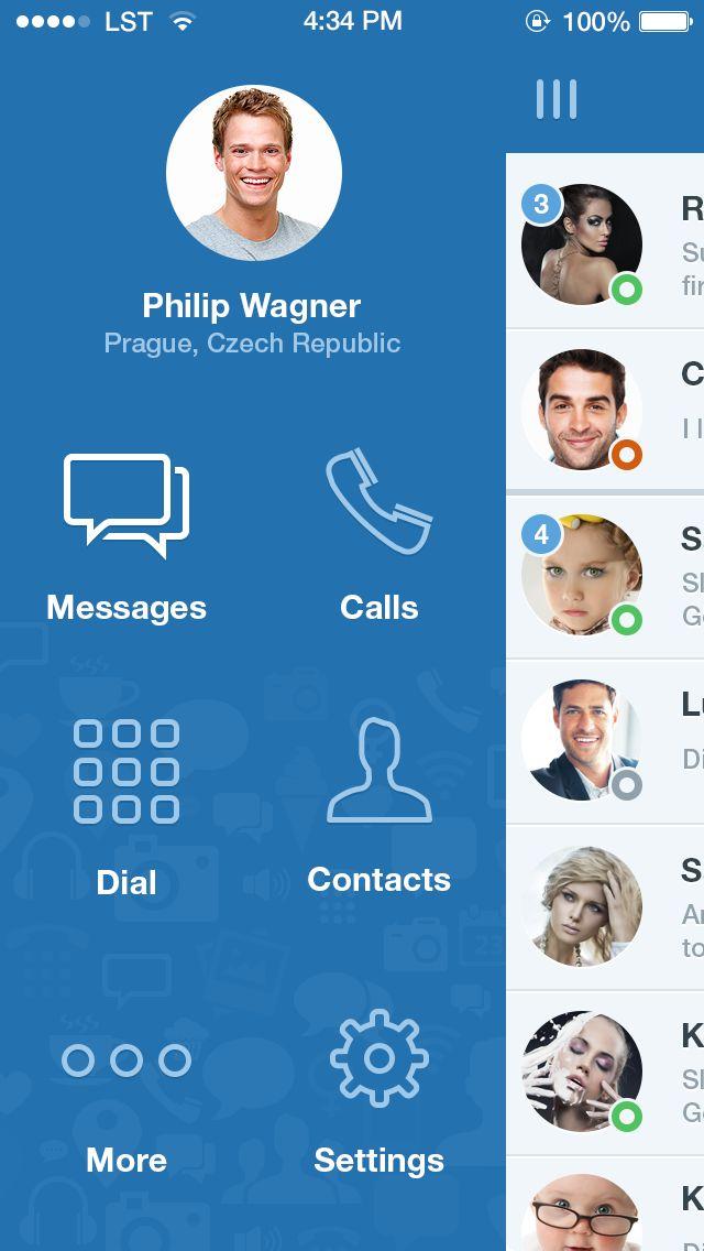 Message app | Dribbble