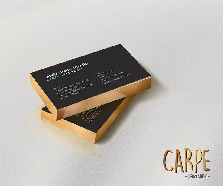 Tarjetas de presentación del estudio #branding #graphicdesign #diseñografico #diseño #business #cards #CARPE #studio #monterrey #tarjetas #golden #black
