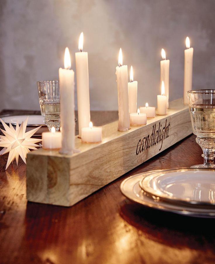 "Kerzenhalter, ""Candlelight"", Holz | Kerzen- und Teelichthalter | Wohnaccessoires | Living"