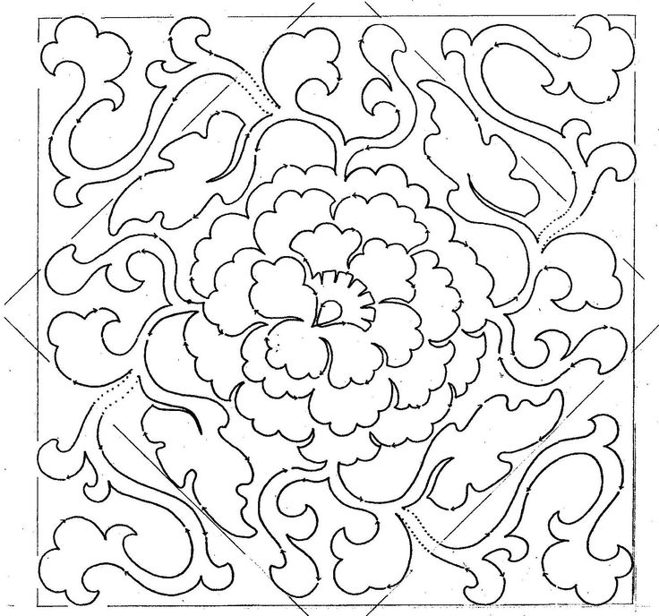 Chinese Medallion couching/ soutache embroidery pattern