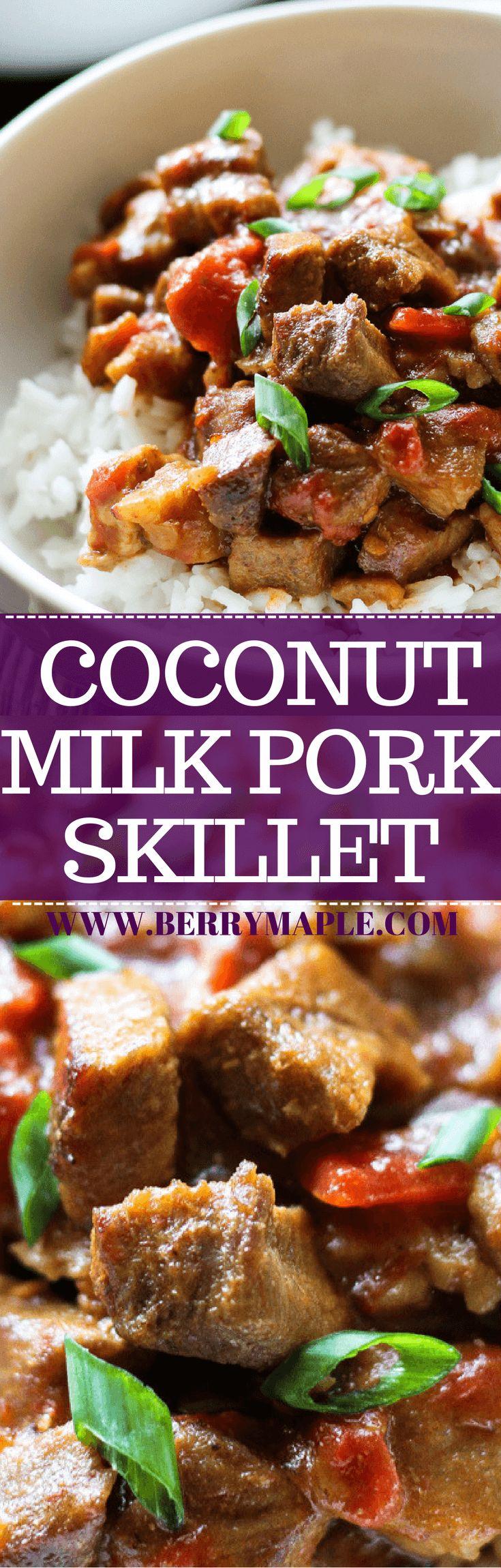 coconut milk pork skillet recipe #pork#skillet#coc…