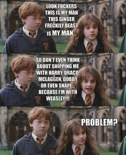 Haha Ron and hermione forever