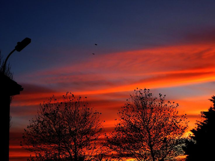 My photo of sunset, I had such beautiful views when I was still living on Ashgrove Close.