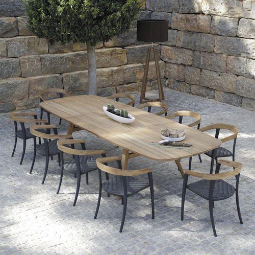 Tavolo da pranzo / moderno / in teak / in alluminio - ZIDIZ : ZDZ320 by Kris Van Puyvelde - Royal Botania