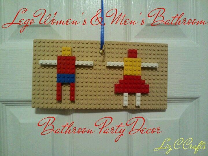 Lego Bathroom Party Decor Lego Party Decor Lego