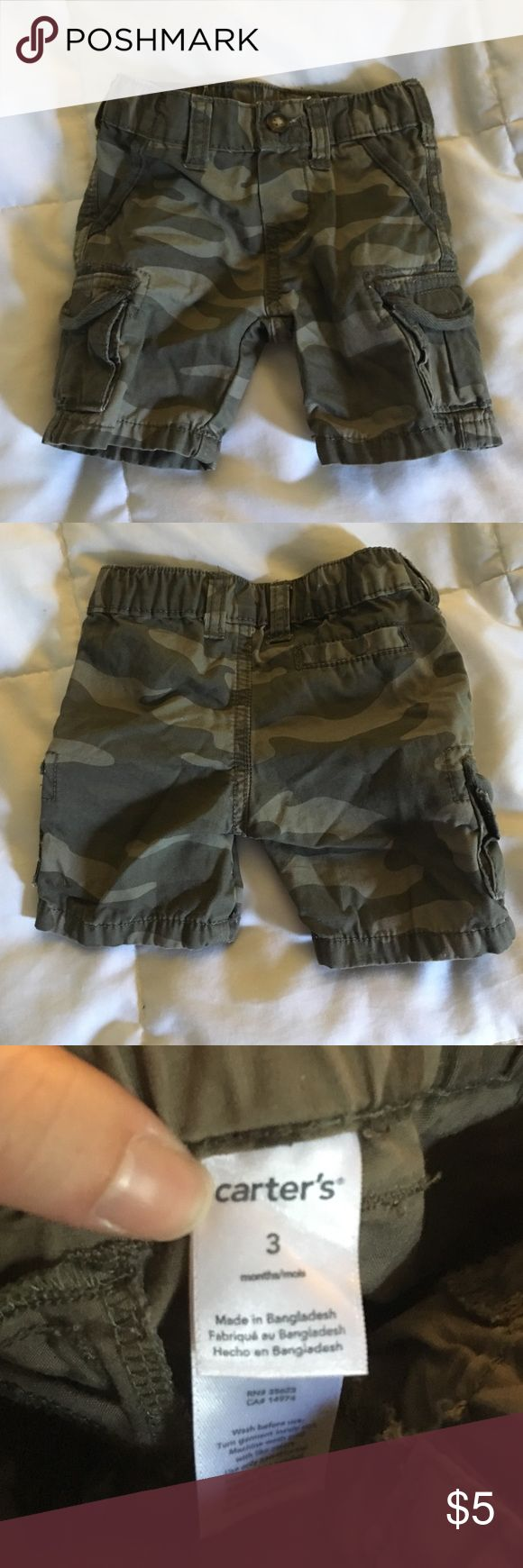 Carter's Boy 3M Camouflage Shorts- Never Worn 3M Boys Carter's Never Worn Camouflage Shorts Carter's Bottoms Shorts