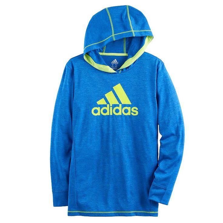 Boys 8-20 Adidas Coast To Coast Hooded Tee, Size: Medium, Brt Blue