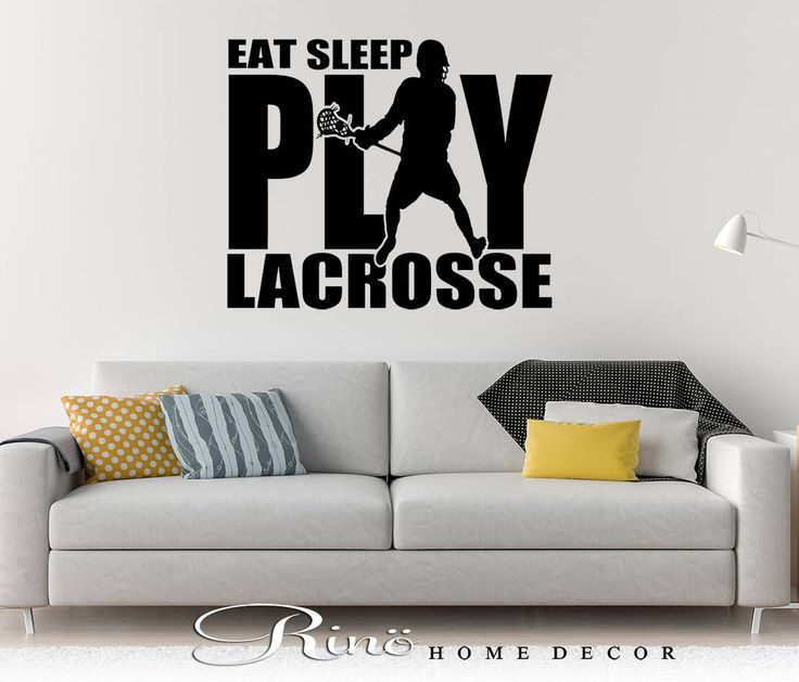 Lacrosse Wall art - Lacrosse decal - Lacrosse decor - eat sleep play lacrosse vinyl Decal LAX sticker player kids teen bedroom home decor by RINOhomedecor on Etsy