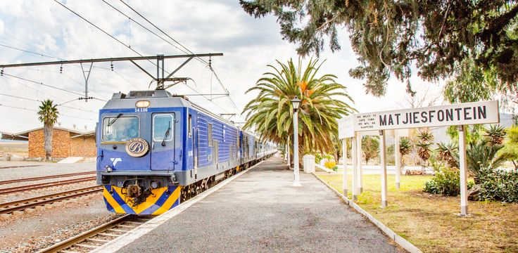 The Blue Train at Matjiesfontein