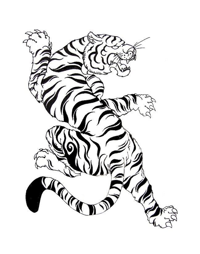 White Tiger In 2020 Japanese Tattoo Art Japan Tattoo Design Tiger Tattoo Design