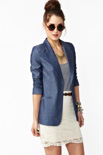 lovin' this denim-colored blazer!!