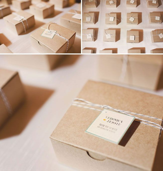 boite gateau marron cartonnee