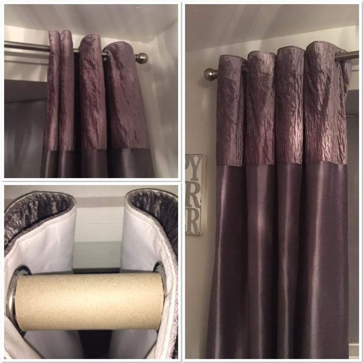 Make Shift Curtain Spacers With Toilet Roll Tubes Curtains In 2019 Living Room Remodel
