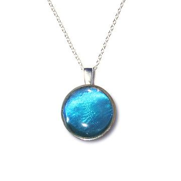 Wing Charm Morpho Didius, $74, now featured on Fab.  #necklace #jewelry