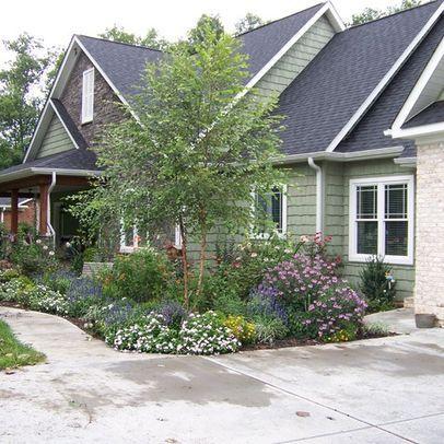 18 best front porch decorating images on pinterest porch for Foundation planting plans