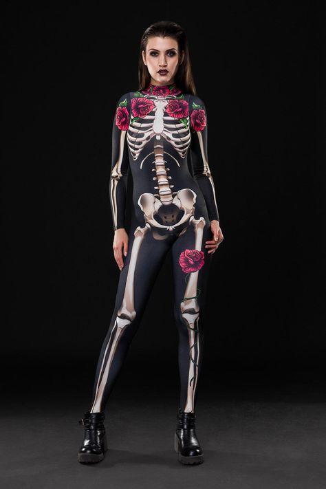 ¡Nuevo! -Disfraces de Halloween esqueleto, esqueleto de cuerpo entero, catsuit del esqueleto adulto, mono esqueleto, Catsuit negro, disfraces de Halloween, traje de dirrtytownclothing en Etsy https://www.etsy.com/es/listing/477471647/nuevo-disfraces-de-halloween-esqueleto