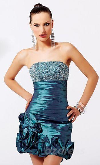 Cute A-Line Tube Sleeveless Natural Evening Dress Sale bzdress3360