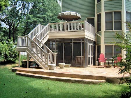Superieur Two Story Deck Design With A Screened In Porch Underneath. | Fdatlanta.com