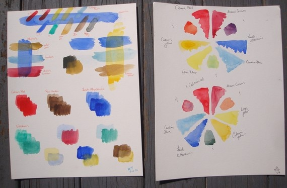 Watercolor Color Mixing Exercises. $25.00, via Etsy.