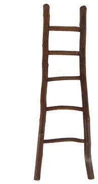 "66""H Teak Log Ladder, Mahogany beach-style-ladders-and-step-stools $86"