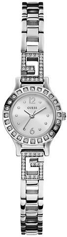 GUESS Ladies' Silver-Tone & Crystal Jewelry Watch on shopstyle.com